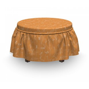 Blooming Leaves Ottoman Slipcover (Set Of 2) By East Urban Home