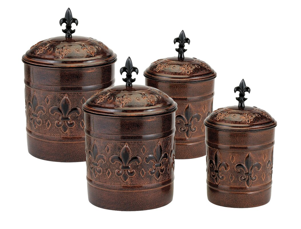 old dutch versailles 4 piece kitchen canister set reviews wayfair default name
