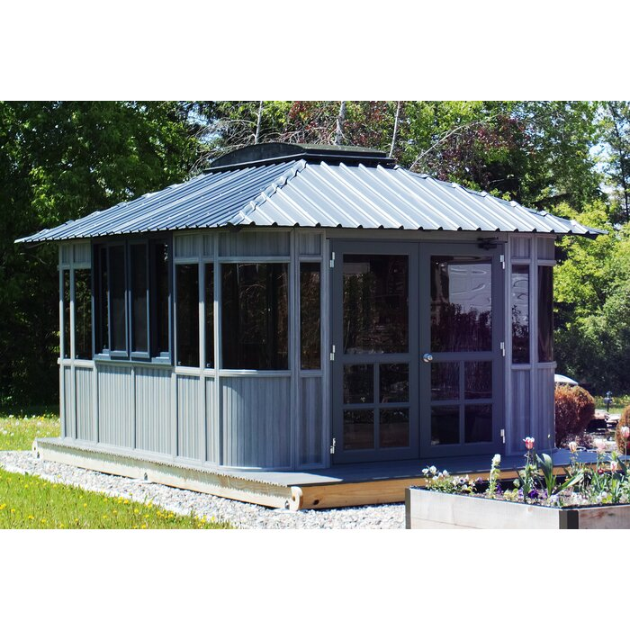 Pavillon de jardin en bois manufacturé l 15,5 pi x P 11,5 pi Colorado