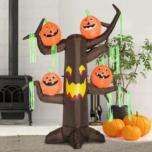 Agustina Halloween Pumpkin Ghost Tree 6 LED Light Inflatable Image