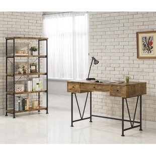 Chadron Writing Desk with Bookcase