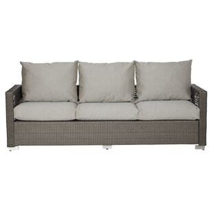 Mcmanis Outdoor Open Weave Patio Sofa with Cushions