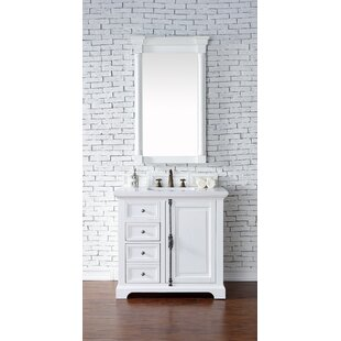 Ogallala 36 Single Rectangular Sink Cottage White Bathroom Vanity Set by Greyleigh