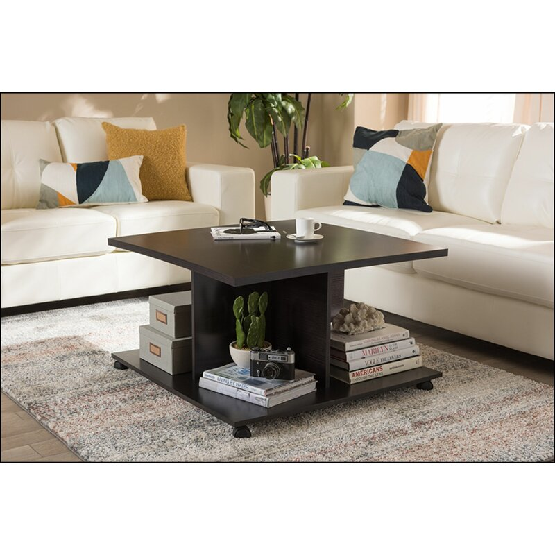 Red Barrel Studio Bardin Wheel Coffee Table With Storage Wayfair
