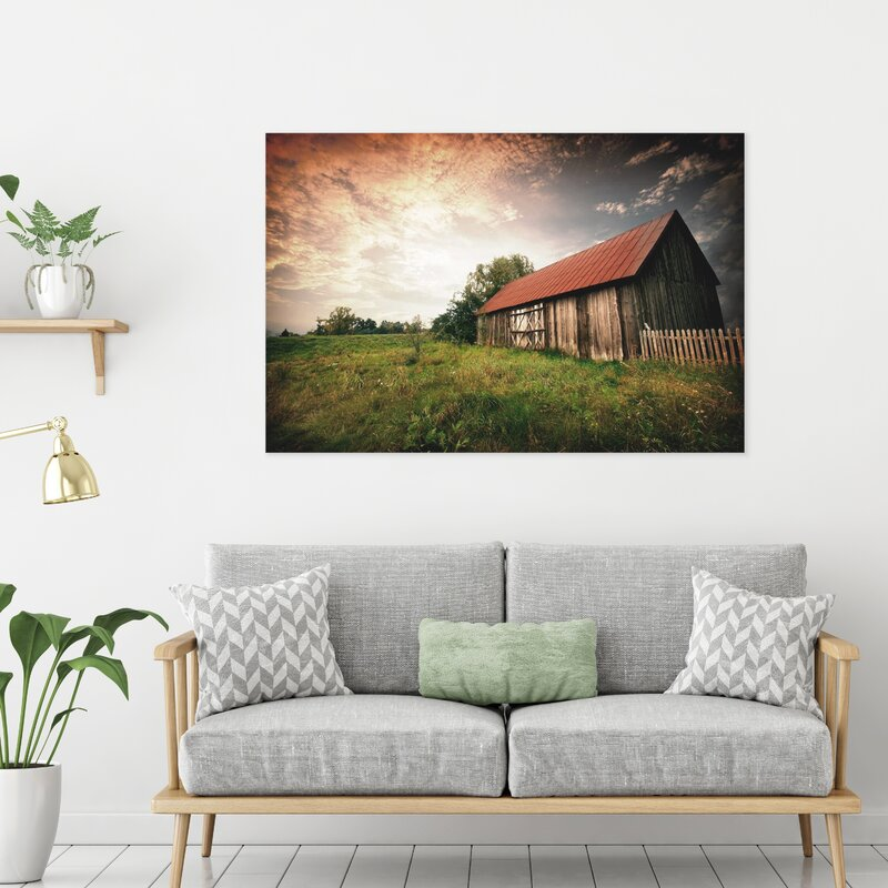 'Country Paradise' Photographic Print on Glass