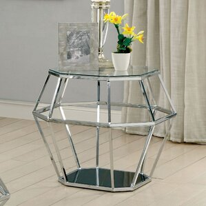 Aguiar Contemporary End Table by Everly Quinn