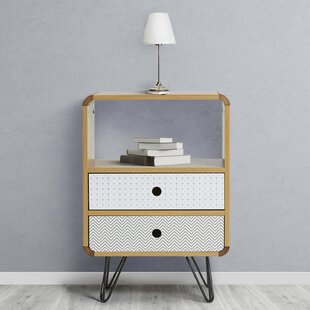 Katarina 2 Drawer Bedside Table By Isabelline