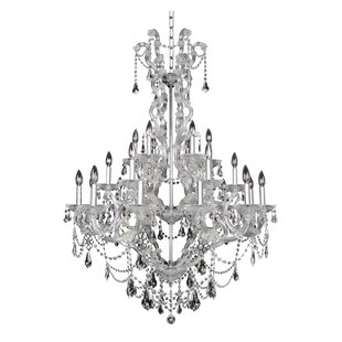 Allegri by Kalco Lighting Brahms 24-Light Candle Style Chandelier