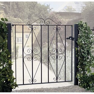 Brizendine Premium Scroll Single Garden Metal Gate By Rosalind Wheeler