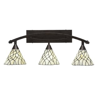 Astoria Grand Austinburg 3-Light Tiffany Glass Shade Vanity Light