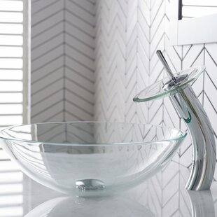 Find the perfect Crystal Glass Circular Vessel Bathroom Sink with Faucet By Kraus