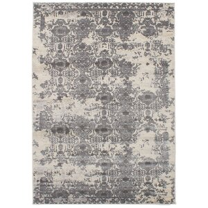 Faustine Gray Abstract Area Rug