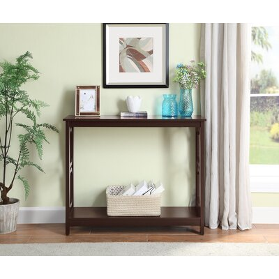 Ardenvor Console Table Table Top Color: Espresso, Table Base Color: Espresso by Beachcrest Home