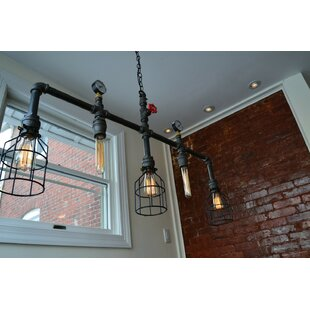 West Ninth Vintage Steampunk 5-Light Kitchen Island Pendant