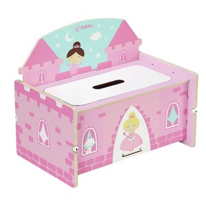 Nathaniel Princess Castle Toy Storage Bench