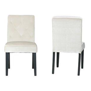 Cortesi Home Anastasia Upholstered Dining Chair (Set of 2)