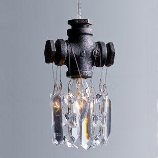 17 Stories Eulalia 1-Light Crystal Pendant