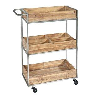 Williston Forge Prescot Metal/Wood Bar Cart