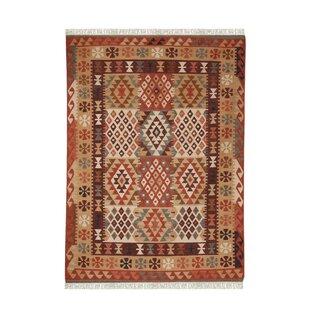 De Luxe Handmade Brown Kilim Rug