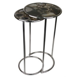 Agate Round 2 Piece Nesting Table by Jodh..