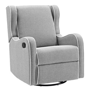 Rowe Upholstered Manual Reclining Glider Recliner by Viv + Rae