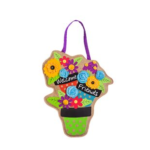 Limones Welcome Friends with Flowers Wall D?cor by Red Barrel Studio