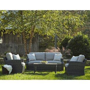 Cascade 4 Piece Sunbrella Sofa Set with Cushions