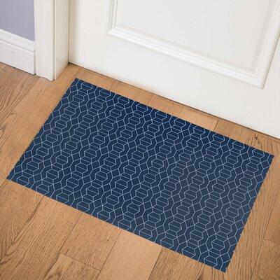 Latitude Run Latitude Run Berstine Indoor Door Mat X114409495 Mat Size 0 08 H X 36 W X 24 D Color Navy Dailymail