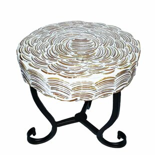Fanette Round Mosaic Side Table