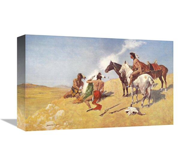 The Smoke Signal by Frederic Remington Fine Art Repro on Canvas