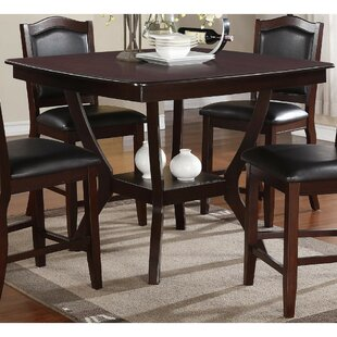 Charlton Home Ruddell Wooden Counter Height Dining Table