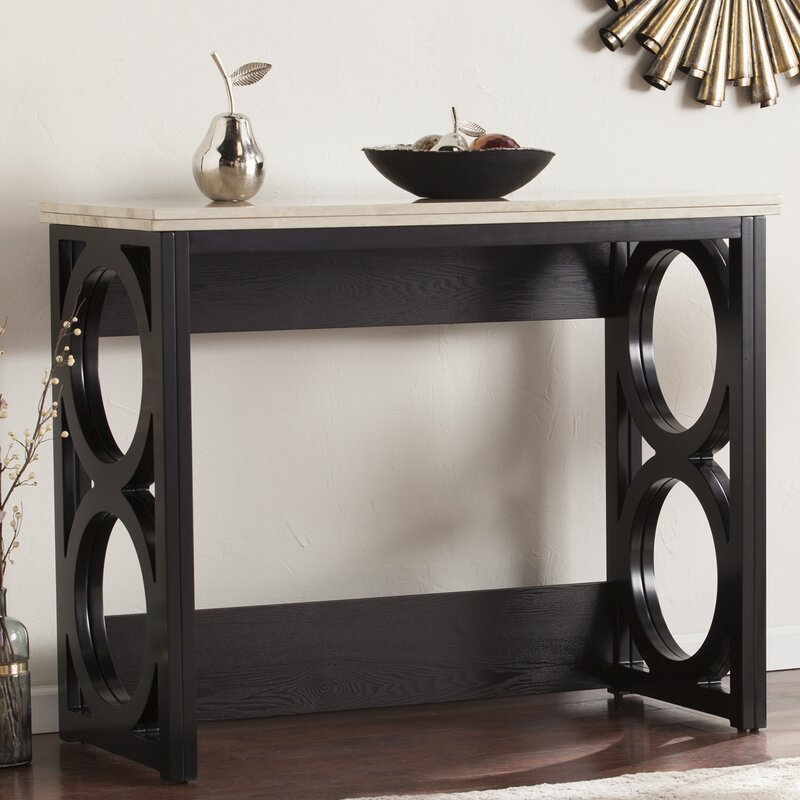 Console Dining Table latitude run maura counter height console/ dining table in faux