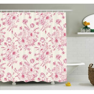 Tessa Romantic Rose Flower Bouquet Blooms Single Shower Curtain