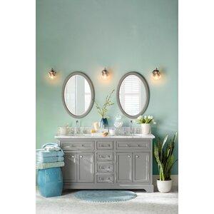 Bergin 60 W Double Sink Bathroom Vanity Set with Mirror
