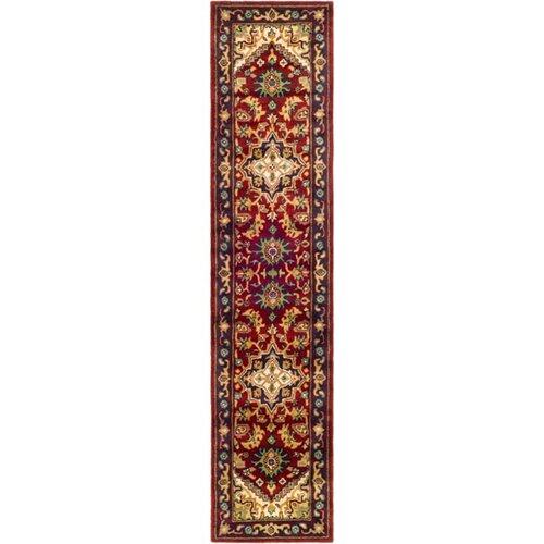 Astoria Grand Balthrop Oriental Handmade Tufted Wool Red Navy Blue Yellow Area Rug Reviews Wayfair