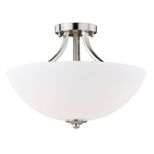 Orion Traditional 3-Light Semi Flush Mount By Three Posts Ceiling Lights