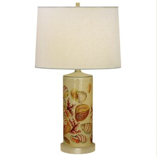 Seaside Column Hand Painted Porcelain 27 Table Lamp