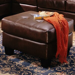 Achilles Leather Storage Ottoman by Zipcode Design