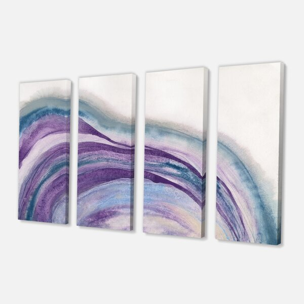 East Urban Home Watercolor Geode Ii Print Multi Piece Image On Canvas Wayfair