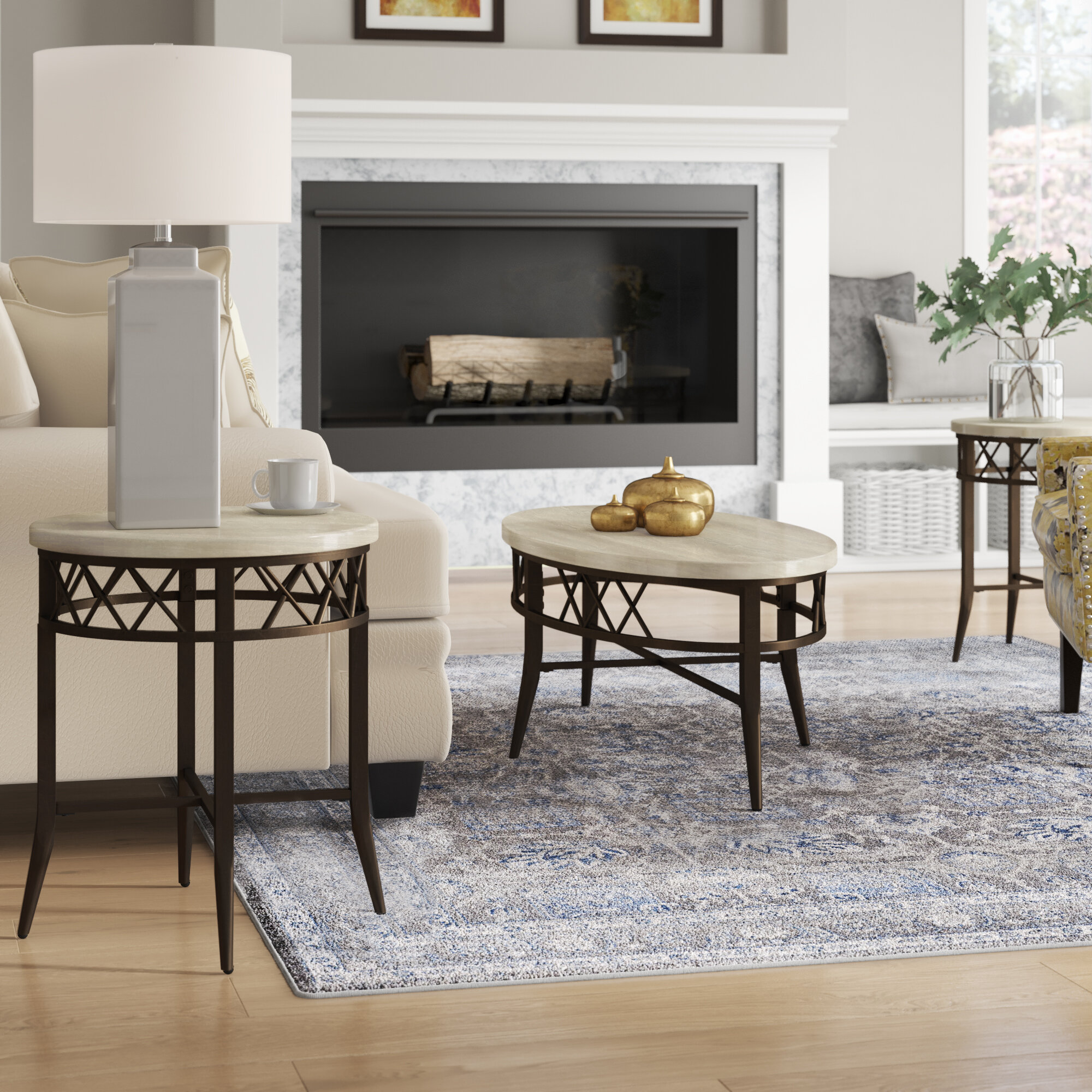 - Charlton Home Bedfordshire 3 Piece Coffee Table Set & Reviews