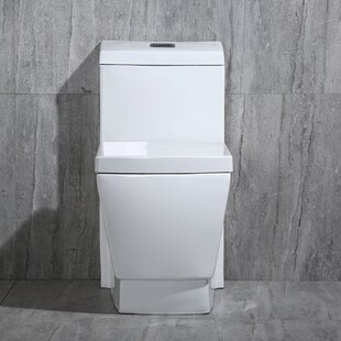 WoodBridge Dual Flush Elongated One-Piece..