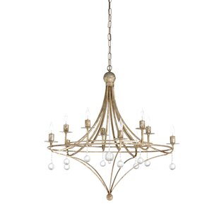 Wildwood Martha 10-Light Wagon Wheel Chandelier
