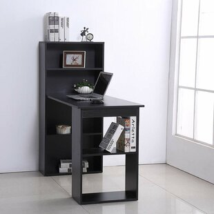 Wilclay Computer Floating Desk With Bookcase by Latitude Run Top Reviews