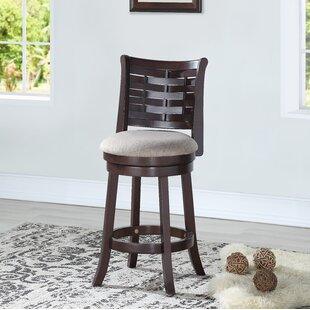Darold 24 Swivel Bar Stool Canora Grey