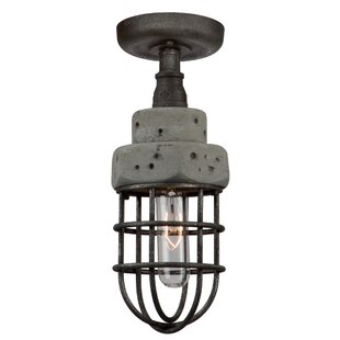 Cearra 1-Light Semi Flush Mount by 17 Stories