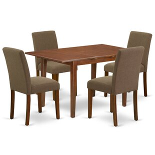 Sbordone 5 Piece Extendable Solid Wood Dining Set by Winston Porter