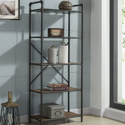 17 Stories 5 Tier Pipe Etagere Bookcase