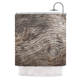 Tree Bark by Susan Sanders Wooden Single Shower Curtain