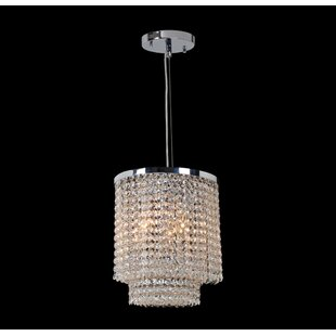 Prism 4-Light Crystal Pendant by Worldwide Lighting