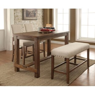 Shaniya 4 Piece Counter Height Breakfast Nook Dining Set